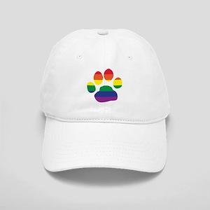 Gay Pride Rainbow Paw Print Baseball Cap