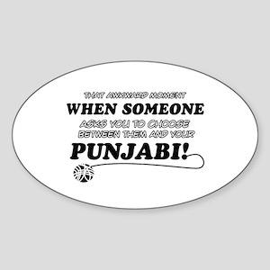 Funny Punjabi designs Sticker (Oval)