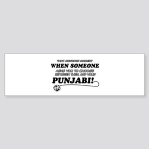 Funny Punjabi designs Sticker (Bumper)