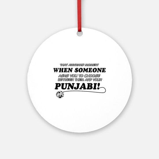 Funny Punjabi designs Ornament (Round)