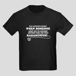 Funny Ragamuffin designs Kids Dark T-Shirt