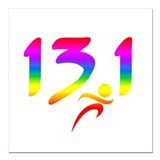 13.1 rainbow Square Car Magnets