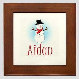 Snowman - Aidan Framed Tile