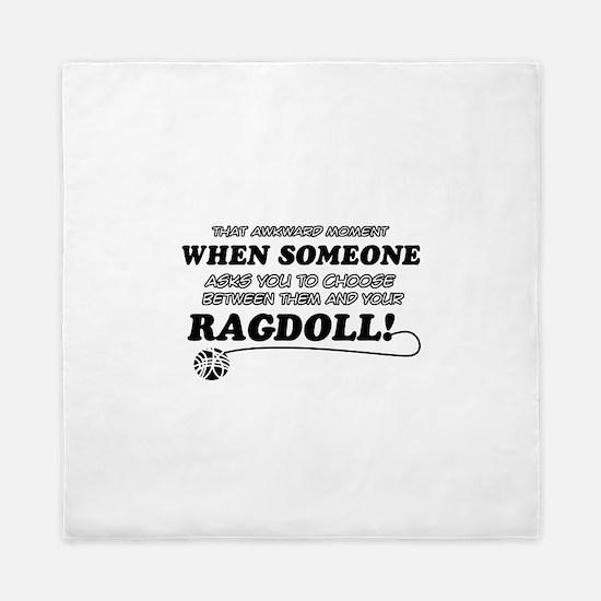 Funny Ragdoll designs Queen Duvet