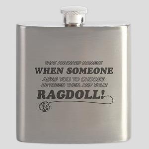 Funny Ragdoll designs Flask