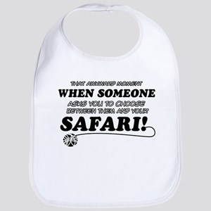 Funny Safari designs Bib