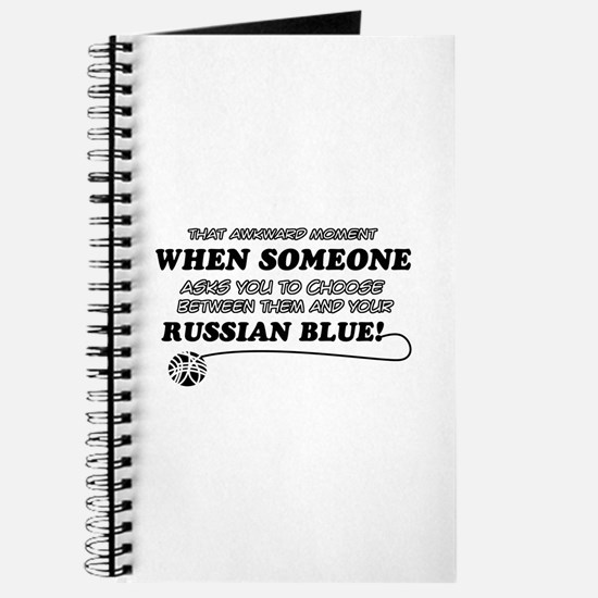 Funny Russian Blue designs Journal