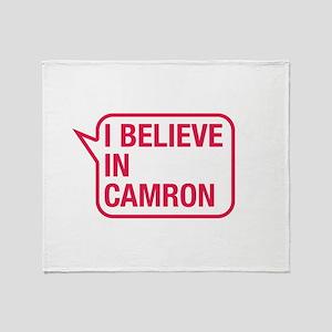 I Believe In Camron Throw Blanket