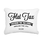 Flat Tax Rectangular Canvas Pillow