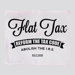 Flat Tax Throw Blanket