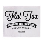 Flat Tax Throw Blanket