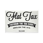 Flat Tax Rectangle Magnet (100 pack)