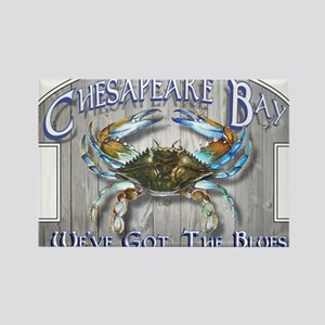 Chesapeake Bay Blues Rectangle Magnet