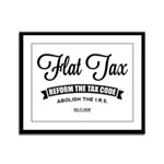 Flat Tax Framed Panel Print