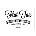 Flat Tax Postcards (Package of 8)