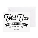 Flat Tax Greeting Card