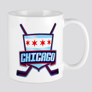 Chicago Hockey Flag Logo Mug
