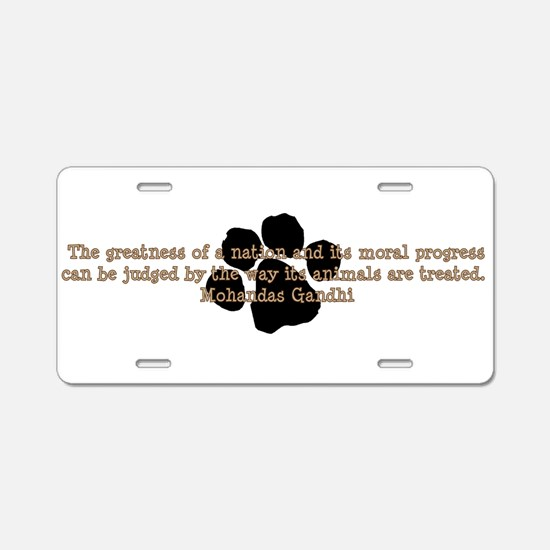 Funny Adopt dog Aluminum License Plate