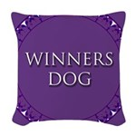 Winners Dog Woven Throw Pillow