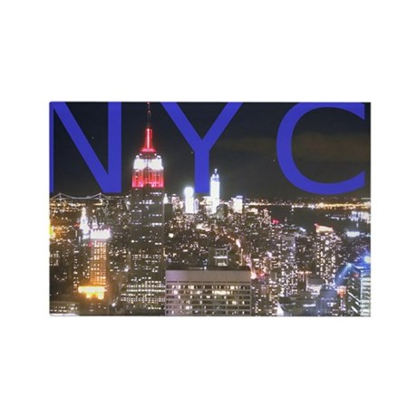 New York at Night Rectangle Magnet