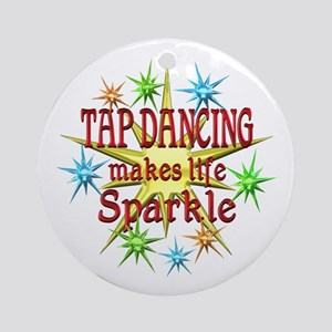 Tap Dancing Sparkles Ornament (Round)