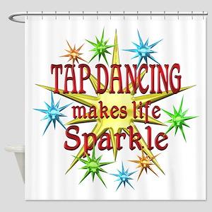 Tap Dancing Sparkles Shower Curtain