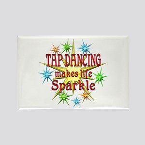 Tap Dancing Sparkles Rectangle Magnet