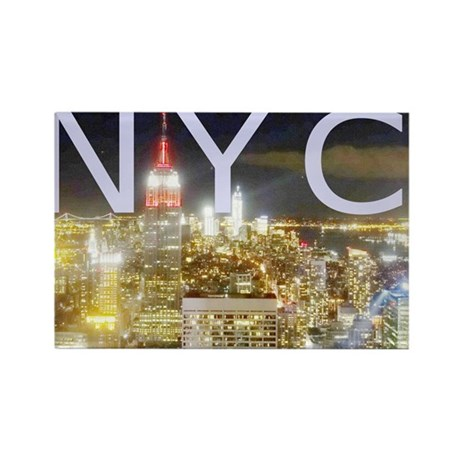 New York at Night II Rectangle Magnet