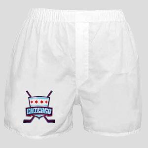 Chicago Hockey Flag Logo Boxer Shorts