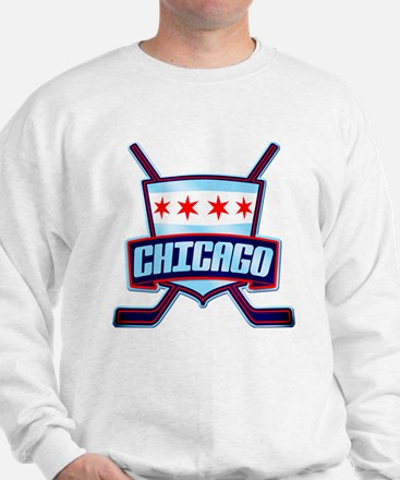Chicago Hockey Flag Logo Sweatshirt