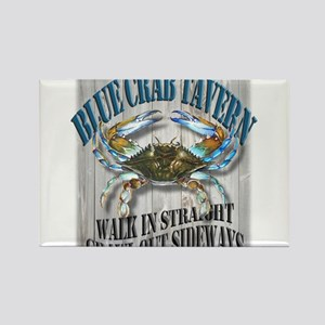 Blue Crab Tavern Rectangle Magnet