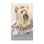 Yorkshire Terrier Sticker (Rectangle 10 pk)