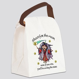 Shoot for the Moon Canvas Lunch Bag