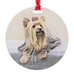 Yorkshire Terrier Round Ornament