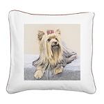 Yorkshire Terrier Square Canvas Pillow