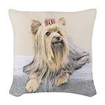 Yorkshire Terrier Woven Throw Pillow