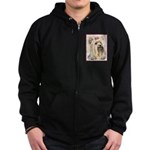 Yorkshire Terrier Zip Hoodie (dark)