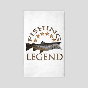 Fishing legend 3'x5' Area Rug