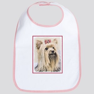 Yorkshire Terrier Cotton Baby Bib