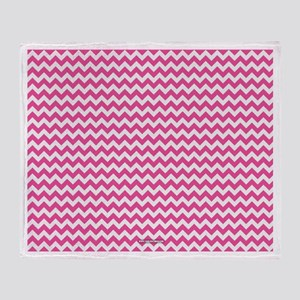 Chevron Pink Throw Blanket