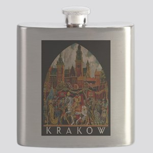 Vintage Krakow Poland Travel Flask