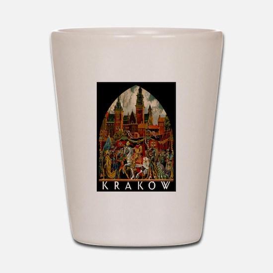 Vintage Krakow Poland Travel Shot Glass