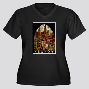 Vintage Krakow Poland Travel Plus Size T-Shirt