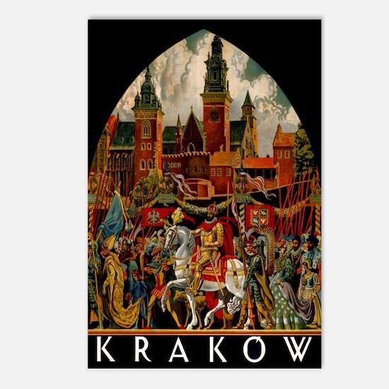 Vintage Krakow Poland Travel Postcards (Package of