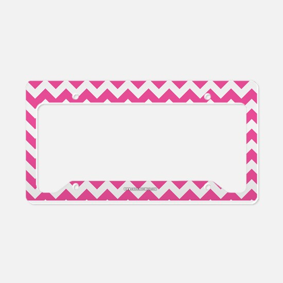 Chevron Pink License Plate Holder