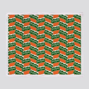 Driving Song Colorado License Plate Throw Blanket