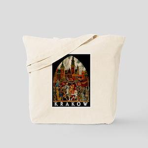 Vintage Krakow Poland Travel Tote Bag