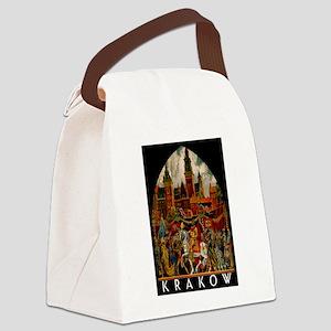 Vintage Krakow Poland Travel Canvas Lunch Bag