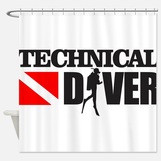 Technical Diver Shower Curtain