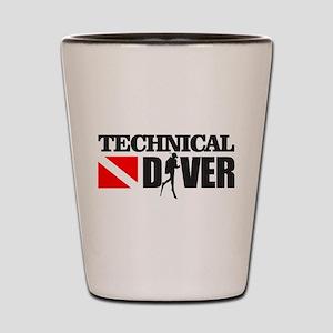 Technical Diver Shot Glass
